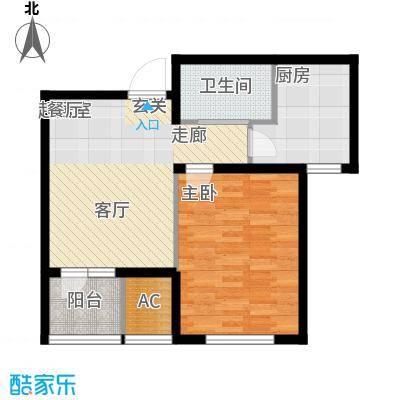 渤海天易园60.95㎡高层标准层03户型