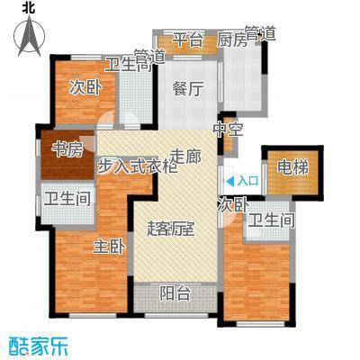 融创洞庭路壹号164.00㎡9、13、16、20号楼标准层D1户型