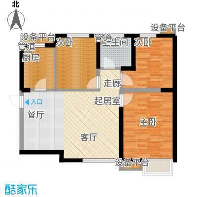 荔城公馆98.88㎡三期高层标准层O户型