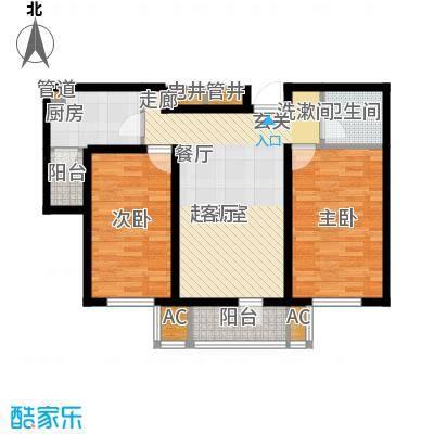 渤海天易园78.00㎡小高层标准层02户型