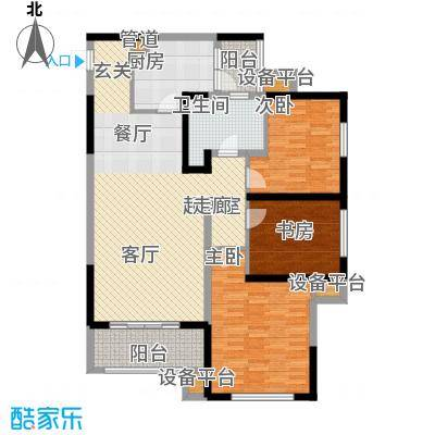 荔城公馆102.00㎡一期高层标准层C2户型