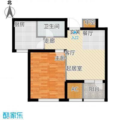 渤海天易园60.95㎡高层标准层02户型