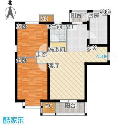 渤海天易园93.17㎡小高层标准层01户型