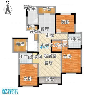 融创洞庭路壹号142.00㎡9、13、16、20号楼标准层D2户型