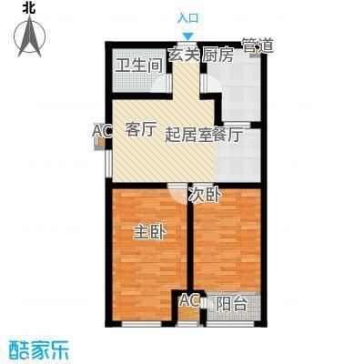 钱隆学府85.00㎡二期高层19号楼标准层D3户型