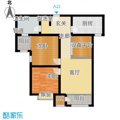 钱隆学府93.59㎡二期高层23号楼标准层G户型