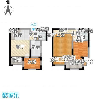 财信圣堤亚纳88.21㎡1#、2#楼C2复式户型