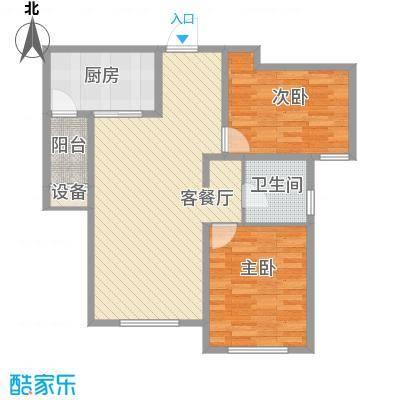 华纳瑞都小区95.08㎡高层5号6号楼标准层D户型