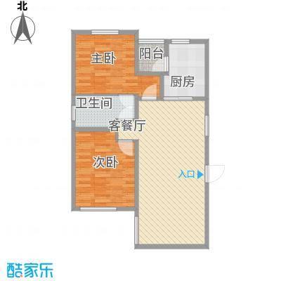 华纳瑞都小区95.37㎡高层4号楼标准层A户型