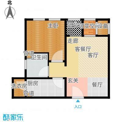 东方文化广场62.00㎡高层标准层C户型
