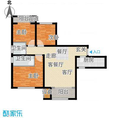 东方文化广场122.00㎡高层标准层B户型