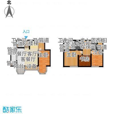 合生君景湾216.55㎡高层标准层户型