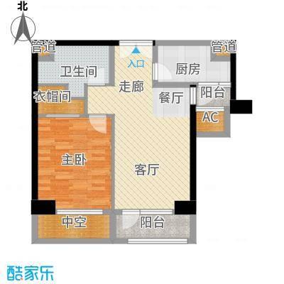 招商钻石山6-14号楼标准层偶数层A03(已售罄)户型