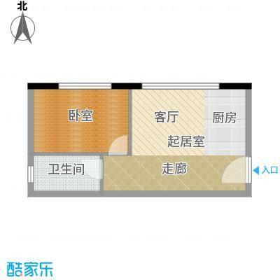 凯旋国际公寓47.15㎡1号楼标准层A户型