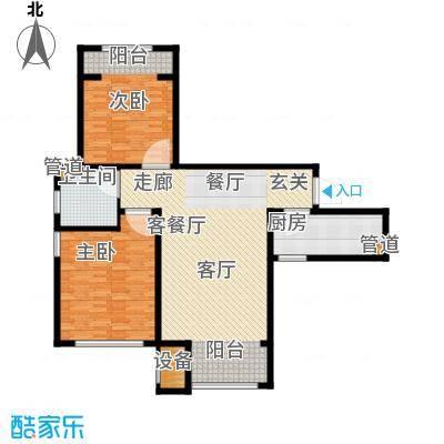 东方文化广场98.00㎡高层标准层D户型