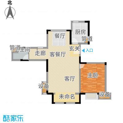 中交上东湾90.00㎡洋房顶层A-01户型