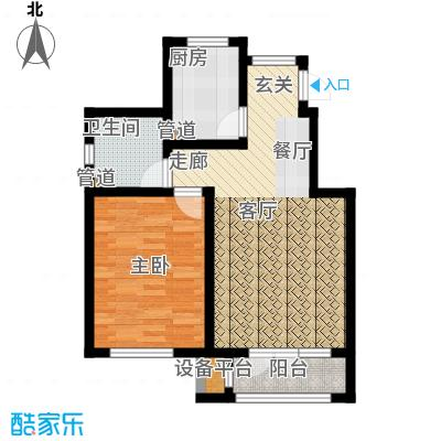 亚泰澜公馆75.00㎡洋房标准层YA-1户型