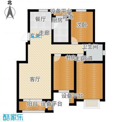 亚泰澜公馆115.00㎡洋房标准层YA-6户型