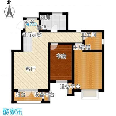 亚泰澜公馆95.00㎡洋房标准层YA-3户型