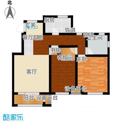 亚泰澜公馆101.00㎡洋房标准层YA-4户型