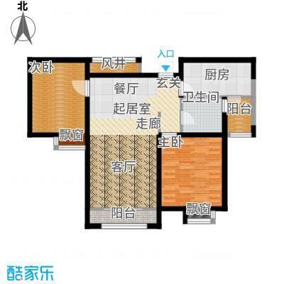 天房郦堂95.48㎡13号楼标准层中户C户型