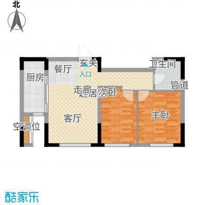 万通金府国际85.56㎡高层5号楼3-13层户型