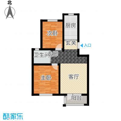 翡翠蓝湾83.62㎡洋房4、7、8、9号楼标准层户型