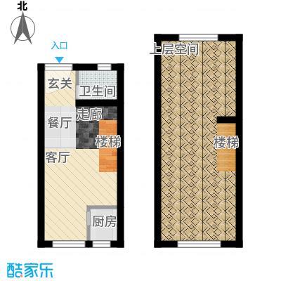 翡翠蓝湾43.10㎡小高层5号楼标准层户型