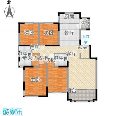 融侨观邸182.00㎡洋房4号楼标准层三层A3户型