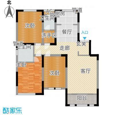 融侨观邸137.00㎡洋房7号楼标准层E1户型