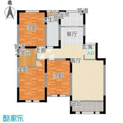 融侨观邸137.00㎡洋房7号楼标准层E2户型
