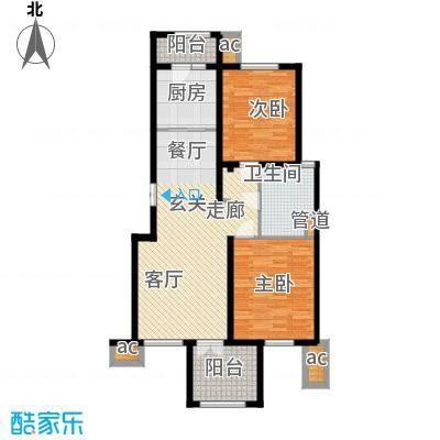 万通生态城新新家园108.89㎡二期高层标准层A2a户型