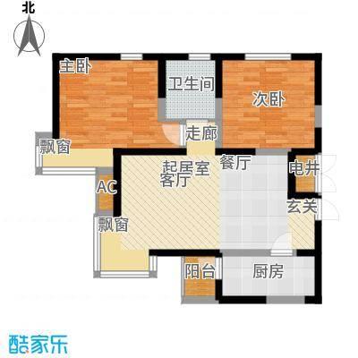 建投观海92.00㎡高层标准层A2户型