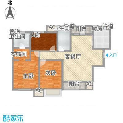 新梅江雅境新枫尚144.00㎡高层标准层C3户型