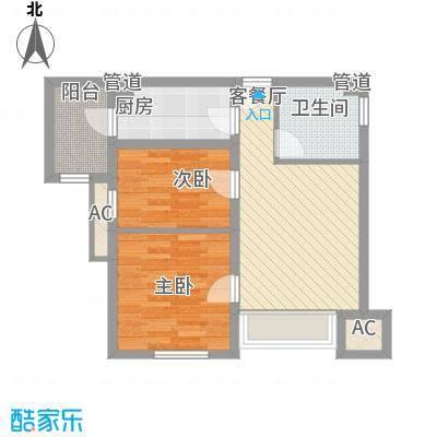 新梅江雅境新枫尚75.40㎡高层标准层C2户型