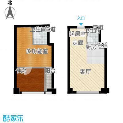 中海八里臺57.00㎡中海八里�公寓标准层C户型