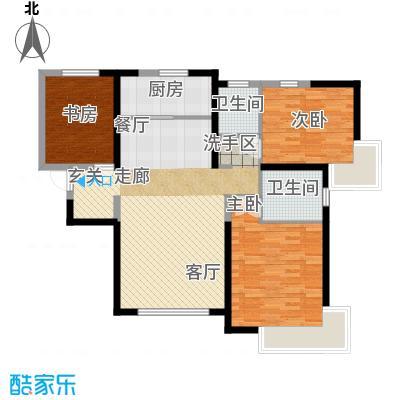 雅仕兰庭138.00㎡二期高层16、17号楼标准层E1户型