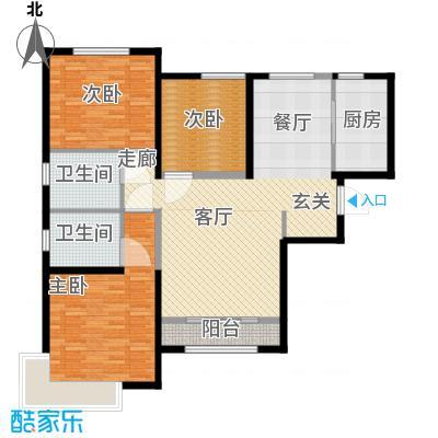 雅仕兰庭125.00㎡一期高层标准层D户型