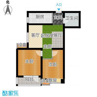 新梅江雅境新枫尚85.49㎡高层标准层G2户型