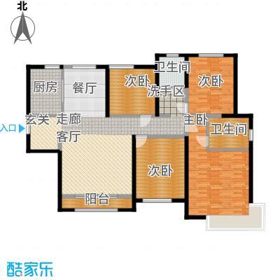 雅仕兰庭154.00㎡3号楼标准层F户型