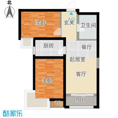 中建御景华庭87.00㎡二期高层7号楼标准层B户型