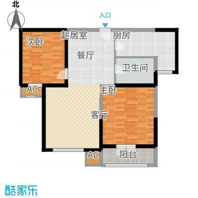 渤海度假村95.83㎡81、82、85、88-90号楼标准层B-03b户型