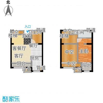 融创中央学府101.00㎡一期11号楼标准层D户型