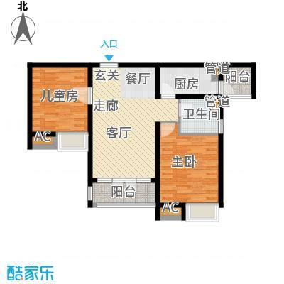 碧桂园滨海城95.00㎡小高层标准层J409B户型