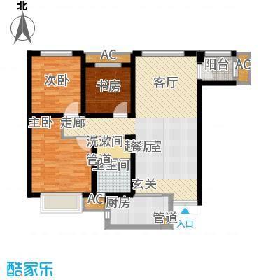 奥克斯盛世年华106.00㎡高层7、8号楼标准层E1户型
