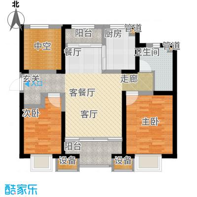 融创中央学府98.00㎡一期11号楼标准层A户型