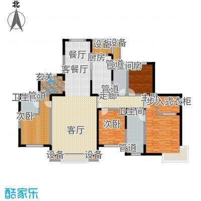 融创中央学府216.00㎡一期77号楼高层标准层C2户型