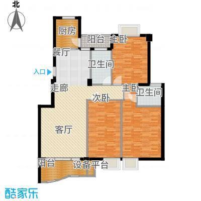 金色世家123.00㎡面积12300m户型