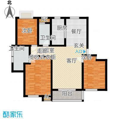 担山现代花园3213户型