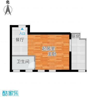 学府公馆56.65㎡1号楼A1面积5665m户型